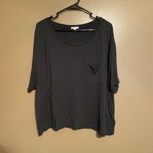 GAP Dark Gray Oversized Crop Top Size XL